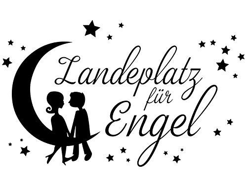Wandtattoo-bilder® Wandtattoo Landeplatz für Engel Nr 1 Engelaufkleber Schlafzimmer Sterne Aufkleber Farbe Pastellorange, Größe 100x60 (Landeplatz 11)