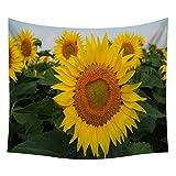Xmiral Tapestries Picknickdecke Strandtücher 150cm x130cm Sonnenblume Wandtuch Yogamatte(Z)