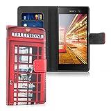 kwmobile Sony Xperia M5 Hülle - Kunstleder Wallet Case für Sony Xperia M5 mit Kartenfächern & Stand