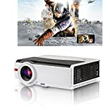 HD Home Projector 5000 lúmenes con Altavoz Integrado HDMI USB VGA AV Audio para Productos Apple iPhone Mac iPad de Juegos Xbox PS3 PS4 Juegos Wii Películas Reproductor de DVD Unidad USB Firestick