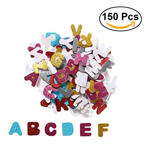 ULTNICE Autocollants en mousse de paillettes Lettres autocollantes Autocollant décoratif pour DIY Craft Wall Home Decor Paquet de 150