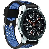 samLIKE Pulsera de Silicona para Samsung Galaxy Watch 46mm–Transpirable Multi de Agujeros Ajustable Brazalete Deportivo para Samsung Galaxy Reloj para Hombre y Mujer, Unisex, Color �� G