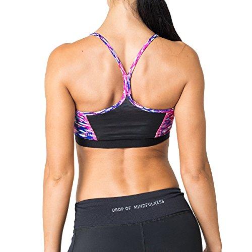 Drop of mindfulness freja print brassière de sport pour femme Multicolore - Pink Python