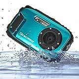 PowerLead PLC1207 2.7 inch LCD 16MP Digital Camera Underwater 10m Waterproof with 8X Zoom--Blue