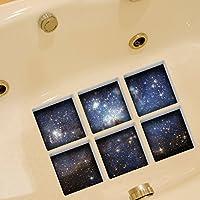 Fulanky 3D Sternenhimmel Badewanne Aufkleber Wasserdichte Bad Dekorative Aufkleber, Leuchtende Stil