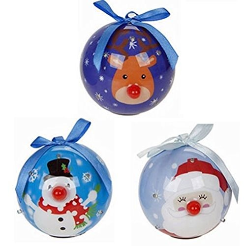 fun-daisy-2-x-80mm-face-light-up-bauble-6-led-flashing-nose-decoration-christmas-lights