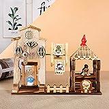 SPFAZJ Musical Christmas Box Vintage Holz Spieluhr Sanduhr Ornamente aus Holz Handwerk Spin Music Box Lernen Geburtstagsgeschenk