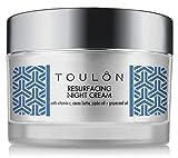 Nachtcreme - Nachtpflege Gesicht - Nachtpflegecreme für Frauen - die beste natürliche Gesichts Feuchtigkeitscreme für trockene Haut und reife Haut mit Vitamin C, Kakaobutter u. Traubenkernöl zur Verringerung der Falten am Hals und Decollete