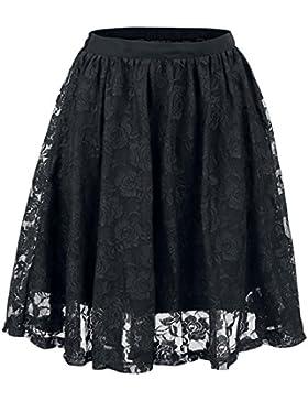 Forplay Falda cubierta de encaje Falda Negro