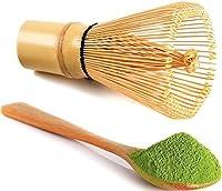 Matcha whisk and tea spoon natural bamboo matcha green tea powder bamboo whisk (chasen) for preparing matcha
