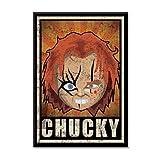 Leinwand Bild Canvas Parodie Horror Cult Cinema Chucky Puppe mörderische Grunge AR