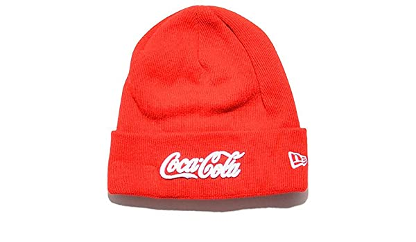 121befb2ee3 New Era Coca Cola Cuff Beanie red white Size one  Amazon.co.uk  Sports    Outdoors