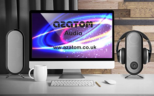 AZATOM HSX7 Freedom Pro Live Bluetooth Headphones With Two Book Shelf High End Speakers (Certified Refurbished)