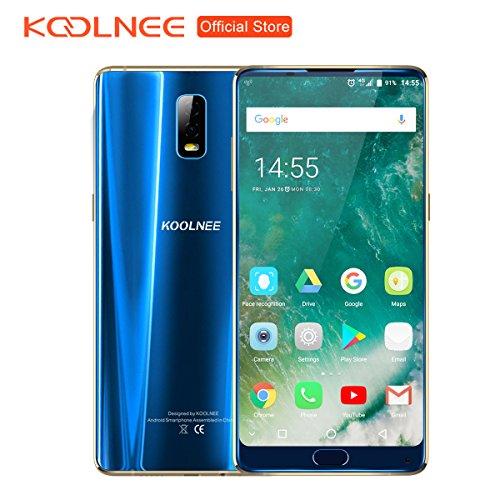 Preisvergleich Produktbild KOOLNEE K1 Randloses 4G Smartphone 6GB RAM+128GB ROM 6.01 Zoll FHD+ Android 7.1 Helio P23 Octa Core 2.0GHz 16.0MP+2.0MP Dual Rückkamera, Dual Sim Dual Standby, Großer Akku mit 4200mAh Fingerabdrucksensor - Blau (2018 Pro Version)