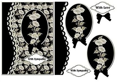 encadrée Fleurs en noir par Sheila