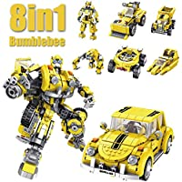 Brixtoys Bay ® 8in1 transformation BumbleBee robot - 1033pcs compatible building blocks, box set#FE2003