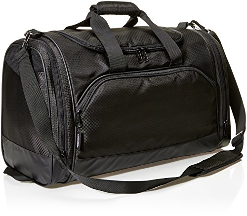 AmazonBasics Sports Duffel Bag - Medium (Black)