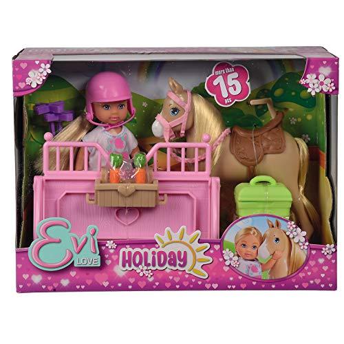 #1018 Evi Love auf dem Reiterhof inklusive Pferd und viel Zubehör • Ferien Spaß Pferdehof Ankleidepuppe Anzieh Puppe Spielzeug