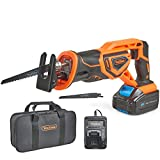 VonHaus Cordless Reciprocating Saw with 3.0Ah Li-ion 20V MAX Battery, Charger, 2 x