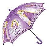 Disney Prinzessinnen Kinder Schirm für Mädchen - Rapunzel Stockschirm - Disney Princess Regenschirm Robust und Windfest - Violett - 66 cm Durchmesser - 3 bis 5 Jahre (Violet)