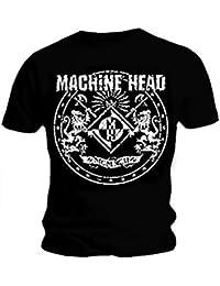 Official T Shirt MACHINE HEAD Distressed CLASSIC CREST Vintage Logo L