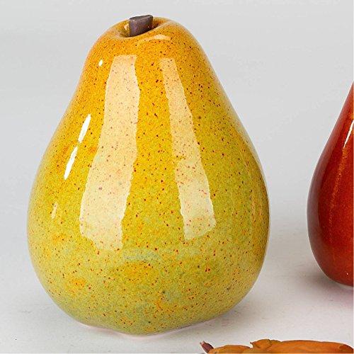 formano Dekoobjekt Birne H. 15cm orange Keramik -