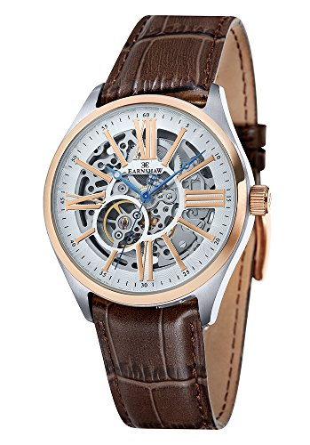 Thomas-Earnshaw-Mens-Automatic-Watch-with-Grey-Dial-Analogue-Display-and-Brown-Leather-Strap-ES-8037-04