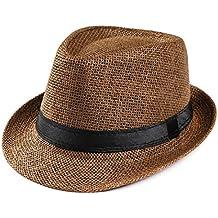 Amlaiworld Gorras Gorras de Hombre Mujer Unisex Trilby Gangster Mujer  Hombre Sombrero de Paja de Sol de 99699922638