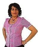 Spieth & Wensky Trendige Trachtenbluse Petra Karobluse Karierte Bluse in Farbe Beere