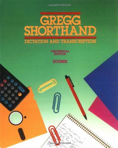 DOWNLOAD Gregg Shorthand:Dict/Trans -Stud (Centennial