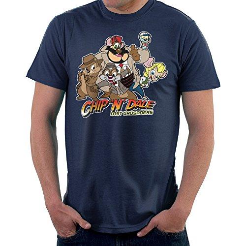 Chip N Dale Last Crusaders Indiana Jones Rescue Rangers Men's T-Shirt (Shirt Jones Indiana)