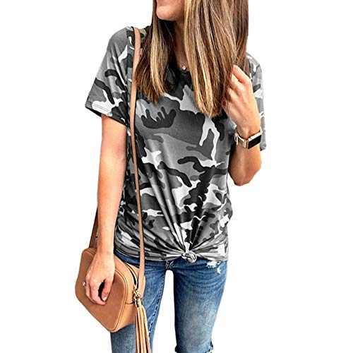 Womens Lace Casual Rundhals Tunika Tops Lose Bluse T-Shirt A03 L -