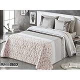 FUNDECO - BEDSPREAD Colcha Verano ANTILO NAYELI Rosa Summer Quilt ( Varios tamaños disponibles ) (135_x_200_cm)