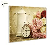 B-wie-Bilder.de Magnettafel Pinnwand mit Motiv Blumen Nostalgie Vintage Größe 60 x 40 cm