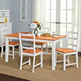 Wooden Kitchen Table Dining Room Table And Chairs Set Table And Chairs Set of 4 Table Home Funiture, 118*76*73cm, LIFE CARVER