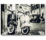 Quadri L&C ITALIA - Vespa vintage 3 - Quadro moderno 70x50 cm stampa su tela shabby chic quadri moderni fiori peonie rustico provenzale style romantic country arredamento casa salotto ufficio home decor