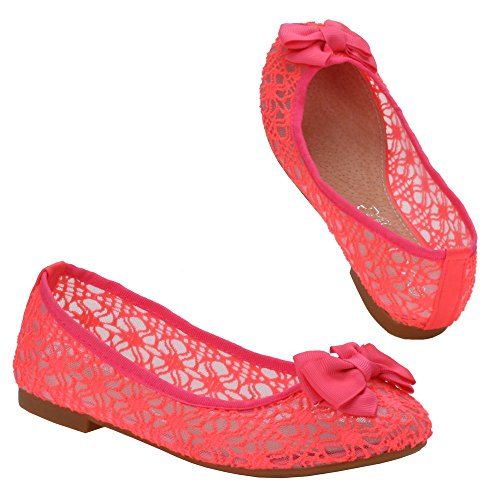 Chaussures pour fille 72–1, f, ballerines femme Rose - Pink L