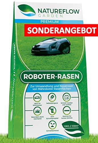 **SONDERANGEBOT** Premium Rasensamen für Mähroboter 10kg - Roboter Grassamen - Schnellkeimend und...