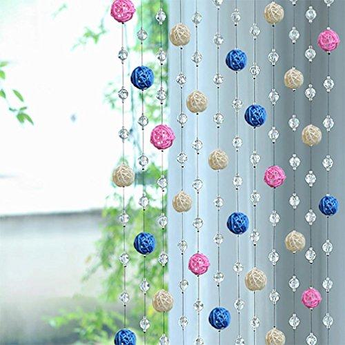 1Stück Kristall Glas Bead, squarex Sepak Takraw Bead Kristall glasscurtain Wohnzimmer Schlafzimmer Fenster Tür Decor
