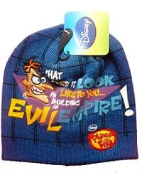 Bonnet Phineas Et Ferb Bleu fficiellement Certifiée Authentique - Marchandise certifiée Disney Phineas Et Ferb