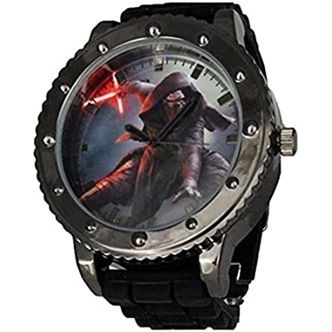 Ufficiale Mens Star Wars Episodio VII Kylo Ren Analogico Orologio - Boxed - Elegante Movimento Al Quarzo Guarda