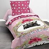 Today 015977Happy Lady Bettwäsche mit Bettbezug/Kissenbezug Baumwolle Rosa 140x 200cm
