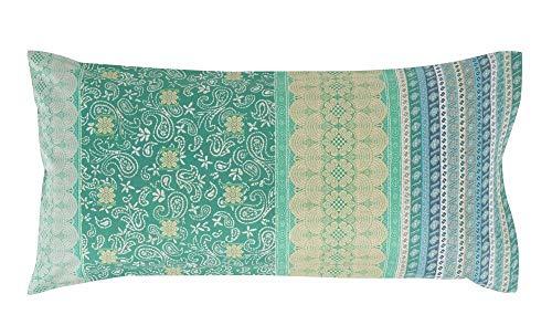 Bassetti ATRANI V2 Housse de Coussin Vert 40 x 80 cm
