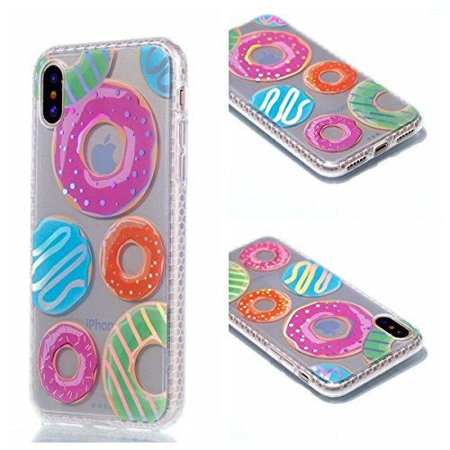 Pour Apple Iphone X Case Cover, Ecoway TPU Soft Motif de placage en couleur personalized pattern Housse en silicone Housse de protection Housse pour téléphone portable pour Apple Iphone X - diamant triangle
