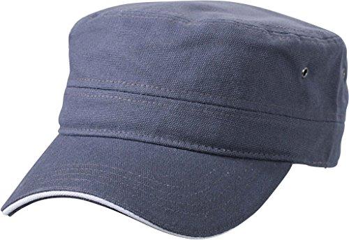Myrtle Beach Sandwich Cap im Military-Stil aus robustem Baumwollcanvas (anthracite/white)
