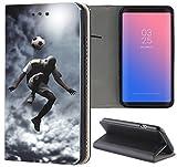 Samsung Galaxy S7 G930F Hülle Premium Smart Einseitig Flipcover Hülle Galaxy S7 Flip Case Handyhülle Samsung Galaxy S7 Motiv (1511 Fussball Fussballer Trick Fußball)