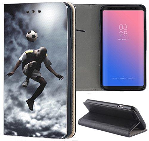 Handyhülle für Sony Xperia Z3 Premium Smart Einseitig Flipcover Flip Case Hülle Xperia Z3 Motiv (1511 Fussball Fussballer Trick Fußball)