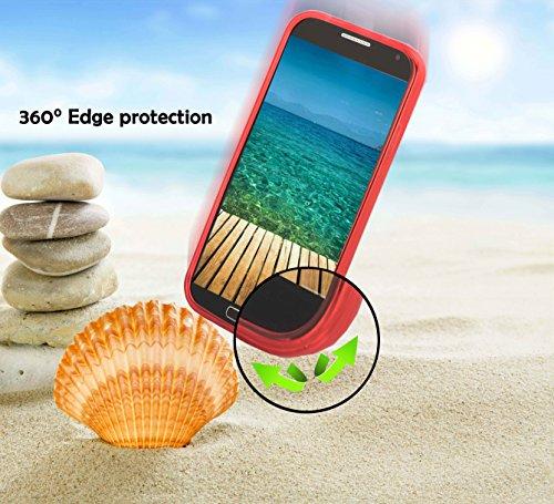 Apple iPhone 6 / 6S Silikon-Hülle in SCHWARZ von Cadorabo - X-Line Design TPU Schutz-hülle – Handy-hülle Bumper Case Cover in OXID-SCHWARZ INFERNO-ROT