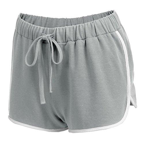 Damen Kurze Hose Shorts Schlafanzughose Schlafhose Yoga Sporthose Running Gym Beiläufige Elastische Shorts Scharz Grau Dunkelblau (Schlaf-hose)