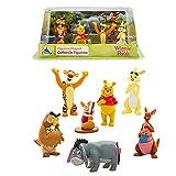 Offizielle Disney Winnie The Pooh Figur Spielset - Winnie The Pooh, Tigger, Ferkel, Eeyore Kaninchen, Eule, Kanga und Roo